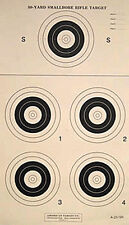 A-23/5R [A23/5R] 50 Yard Smallbore Rifle Target w/Open Center, on Tagboard (22)