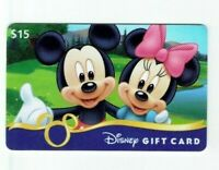 Disney Gift Card - Mickey Mouse & Minnie at Lake - No Value - I Combine Shipping