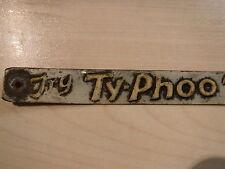 "1920s Original  ""TYPHOO TEA FOR INDIGESTION"" SHOP SHELF TIN SIGN"