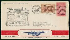 MayfairStamps Canada First Flight Cover 1939 New Brunswick to England WWH19225