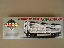 HO PROTO 2000 NORTHERN PACIFIC #80051 MATHER 40' DOUBLE DECK STOCK CAR KIT