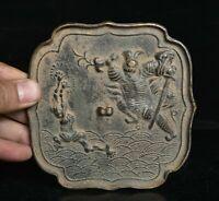 "4,88 ""Chine palais de la dynastie en bronze chinois Zhong Kui Catch Ghost Mirror"
