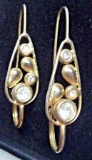 Ohrhänger Silber 925 vergoldet mit klaren Steinen Ohrringe Ohrschmuck filigran