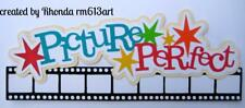 PICTURE PERFECT TITLE school everyday scrapbook premade paper piecing by Rhonda
