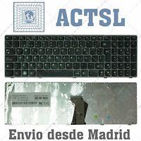 TECLADO ESPAÑOL para PORTATIL Lenovo Ideapad Z560 Gray Frame Black (Reprint)