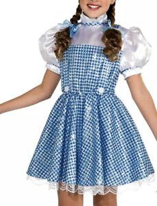 Dorothy Deluxe Sparkle Costume Dress Wizard of Oz Halloween Fancy Girls size M