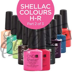 CND SHELLAC Color Coat 7.3ml - Colours H - R  (Part 2 of 3)