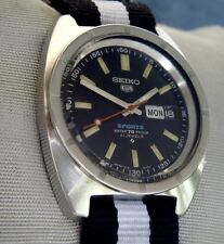 SEIKO 5 SPORTS 6119 8140 VINTAGE 21J AUTOMATIC DAY DATE in ENGLISH & ARABIC