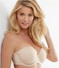 Wacoal 854119 Underwire Padded Strapless Multi-way Bra size 34H Nude no straps