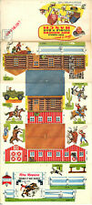 PRICE REDUCED! Roy Rogers Double R Bar Model Ranch, Post Cereals 1953