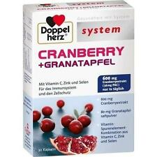 DOPPELHERZ Cranberry+Granatapfel system Kapseln 30 St