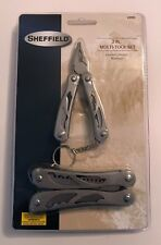 NEW SHEFFIELD 2 PC MULTI-TOOL SET 12921 WITH BELT POUCH