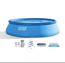 "Intex 15' x 42"" EASY SET Swimming Pool w Pump, Ladder, Cover 