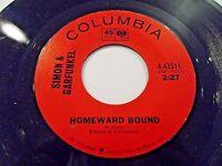 Simon & Garfunkel Howeward Bound / Leaves That Are Green 45 1966 Vinyl Record