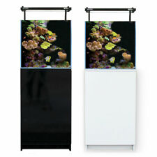 Aqua One MiniReef 90 Marine Reef Aquarium Fish Tank & Cabinet 90L Black & White