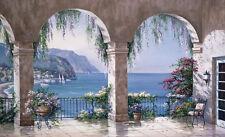 Mediterranean Sea Arches Wallpaper Wall Mural