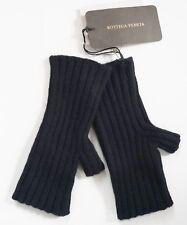 $350 Authentic BOTTEGA VENETA Black 100% CASHMERE Knitted FINGERLESS Gloves M
