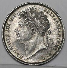More details for george iv sterling silver shilling, 1821, ex spink, bunc