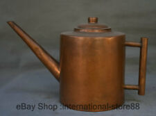 """13.2"""" Marked Old Chinese Copper Dynasty long-billed Teakettle Teapot"""