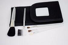 Kosmetiktasche Co.Co Pinsel Set  Kosmetik Schminkpinsel Reiseset mit Spiegel