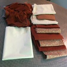 Vtg lot quilting fabric fat quarters scraps FARM COT CHIC