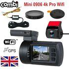 Mini 0906 4K PRO WIFI Dual 1080P Dash Cam GPS TWIN CAM CamdII / MEG / Combi