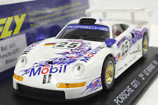 FLY A31 PORSCHE GT1 2ND PLACE LE MANS 1996 NEW 1/32 SLOT CAR IN DISPLAY CASE
