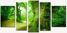 Trees in the Forest Canvas Wall Art Set of 5 Total 35.43 X 70.87 Glow in Dark
