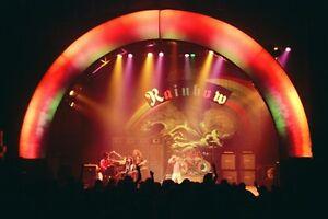 """12""""*8"""" concert photo of Rainbow - Liverpool 1976"""