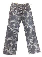 $44.50 NWT AEROPOSTALE MENS GRAY CAMOFLAUGE 100% COTTON CHINO PANTS 30 X 32