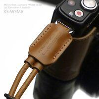 GARIZ Leather Wrist Strap Light Brown XS-WSM6 m43 Sony NEX Olympus Lumix Fuji
