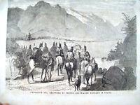 1866 RISORGIMENTO GLI AUSTRIACI PASSANO IL BRENNERO