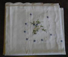 Tischtuch Blumen verziert 85x85 Handarbeit Mitteldecke Tischdecke  (nr18)/334