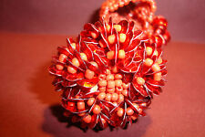 Large Peruvian Handmade,Chunky Beaded Elasticated,Ring~Red~BR6~uk seller~