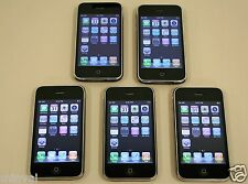 Lot 5 Apple iPhone 3G A1241 8GB Black Smartphone Cell Phone AT&T LOCKED