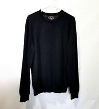 Club Room Mens 100% Cashmere Black Crew Sweater M Medium