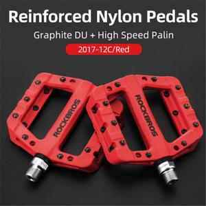 RockBros MTB Road BMX Bike Pedals Nylon Flat Platform Bicycle Seal Bearing Pedal