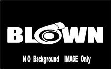 """Diesel sticker decal  Turbo  8"""" x 3""""  BLOWN    MANY COLORS-- FREE SHIP"""