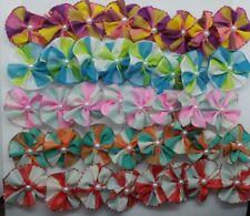 "40 pcs Summer Rubber band hair bows for dog pet grooming handmade 1.5"""