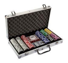 Maxstore Pokerset mit 300 Laserchips Aluminium