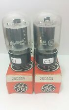 2 Date Matching GE 25C6 GA Vacuum Tubes Tested Good On Calibrated TV - 7 !