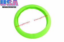 1x Skidproof Odorless Soft Silicon Auto Car Steering Wheel Cover Green Universal