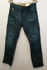 G-STAR RAW NR.3301 3301 SIZE 33 TURQUOISE OCEAN BLUE DENIM JEANS TROUSERS