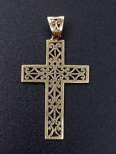 Très belle ancienne croix en or 18K ajouré pendentif