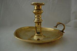 Vintage Brass Chamberstick / Candlestick - Wee Willie Winkie