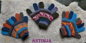 Strick Handschuhe Wollhandschuhe Gefüttert Warme Fingerhandschuhe Bunt Strick