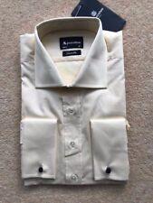 "Mens Aquascutum  long sleeve Shirt 16"" collar NWOT double cuffs"