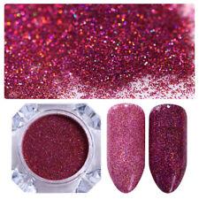 Born Pretty Nail Glitter Powder Starry Holographic Laser Powder Holo Blue & Red
