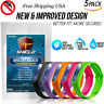 SHIELD Natural Anti Mosquito Insect & Bug Repellent Bracelet Band 5 Pack