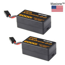 2x 2000mAh LiPo Battery for Parrot AR.DRONE 2.0 11.1V 20C HIGH DENSITY Masione